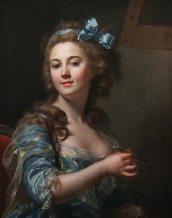 Автопортрет 1783 г. Автор: Мари Габриэлла Капет.